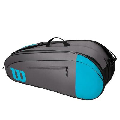 Теннисная сумка Wilson Burn Team 6 Grey Blue