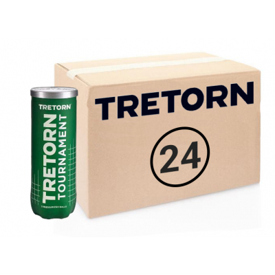 Теннисные мячи Tretorn Tournament 72 мяча (24 по 3 мяча)