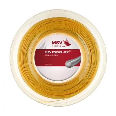 Теннисная струна MSV Focus-Hex Yellow 1